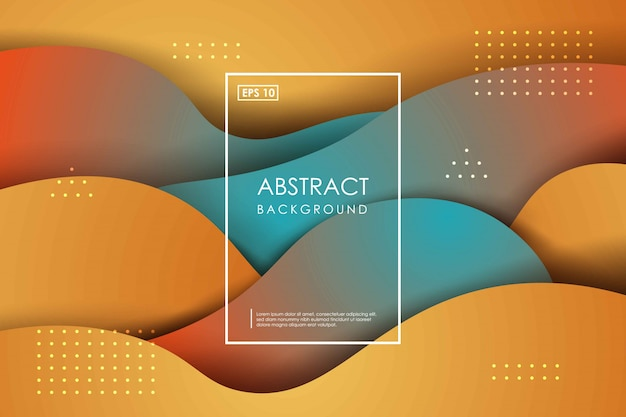 Abstract papercut wavy colorfull geometric background. trendy gradient shapes composition.
