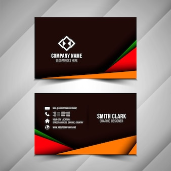 Abstract papr cut business card