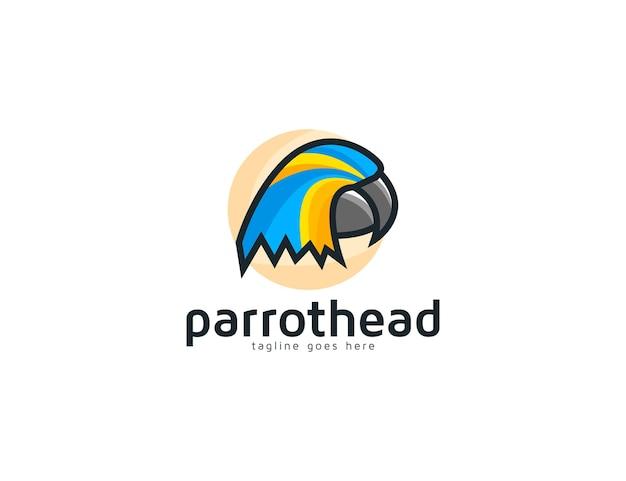Абстрактная голова попугая птица иллюстрация логотип