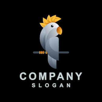 Абстрактный дизайн логотипа попугай