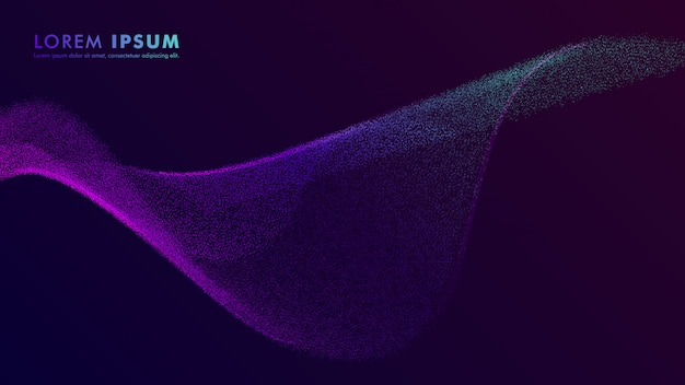 Abstract particle gradient flyer design template