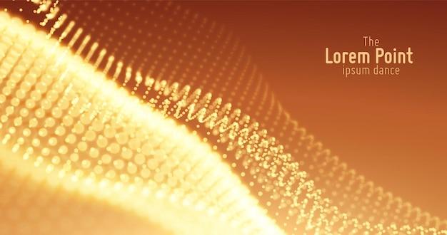 Абстрактная волна частиц, фон массива точек
