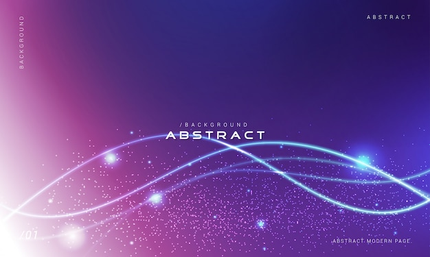 Abstract particle waves background