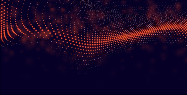 Абстрактный фон частиц в красном цвете