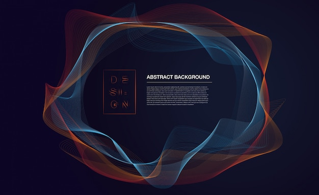 Abstract particles background with text template