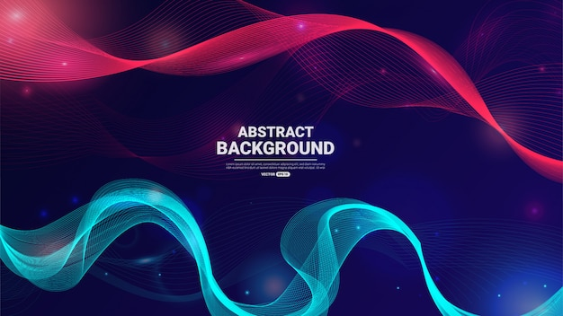 Abstract particles background.