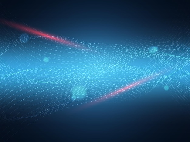 추상 입자 조명 기술 배경 그림