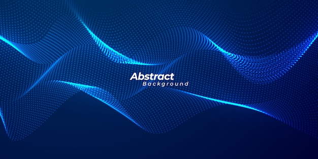 Abstract particles liquid dynamic flow background.