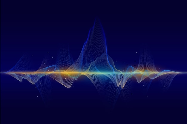 Abstract particles wave background