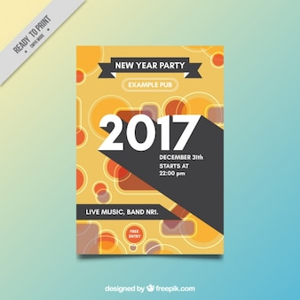 Abstract party flyer of new year