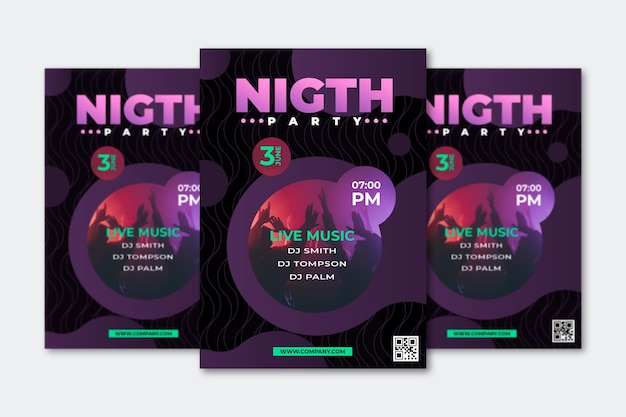 Abstract party poster concept