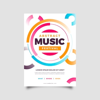 Abstract party poster template