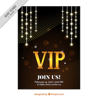 Abstract party poster vip