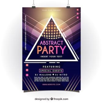 기하학적 스타일으로 추상 파티 포스터
