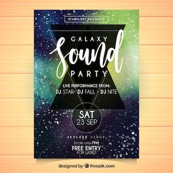 공간 스타일 추상 파티 포스터