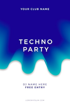 Abstract party poster