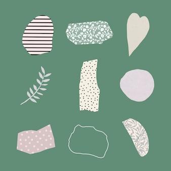 Набор абстрактных пастельных значков