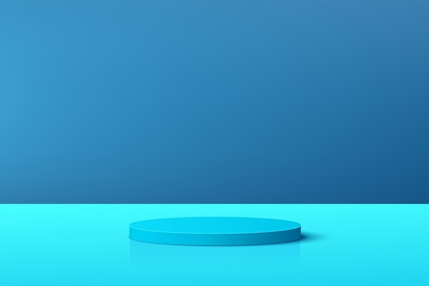 Абстрактный пастельный голубой подиум постамента цилиндра 3д с голубой сценой для представления дисплея продукта