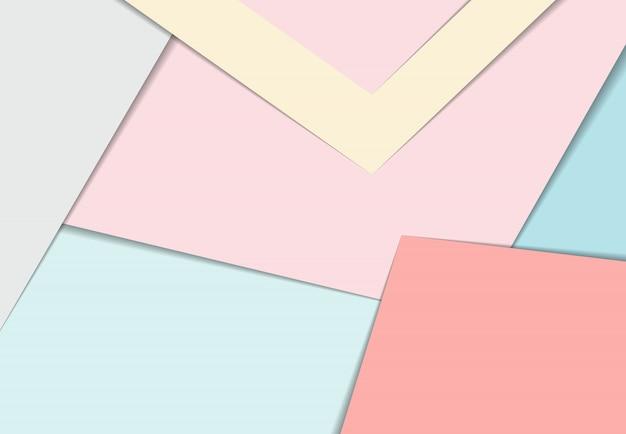 抽象的なパステルカラーパレット紙は、デザインアートワークの装飾的な背景をカットしました。