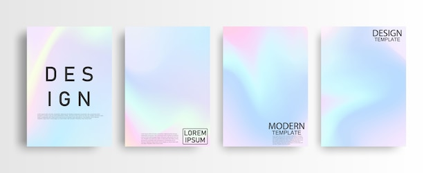 Abstract pastel colorful gradient background a4 concept for your graphic colorful design, layout design template for brochure