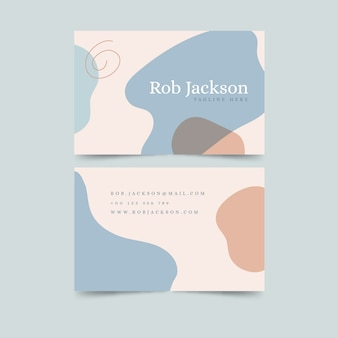 Abstract pastel coloured business card with stains