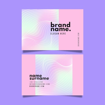 Abstract pastel coloured design business cards