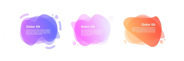 Abstract pastel gradient banners