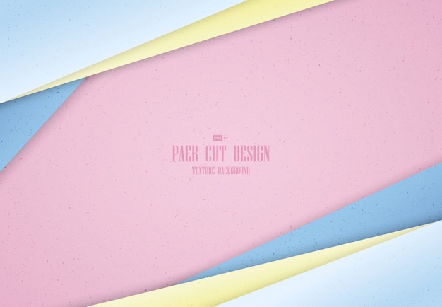 Abstract pastel gradient color of paper cut template design background.