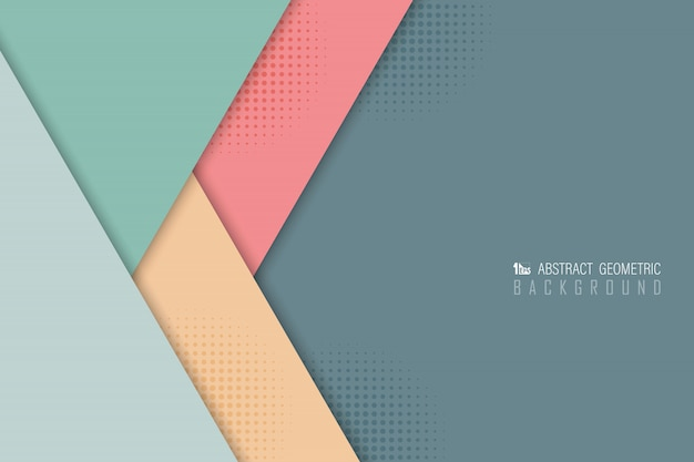 Abstract pastel overlap background of various color design.