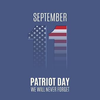 Абстрактный фон день патриота. национальный день памяти. иллюстрация.