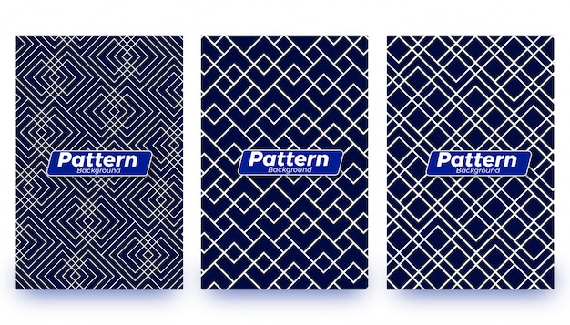 Abstract patter background templates set
