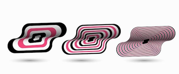 텍스트, 벡터 일러스트 레이 션 디자인의 공간을 가진 추상 패턴 아트 포스터.