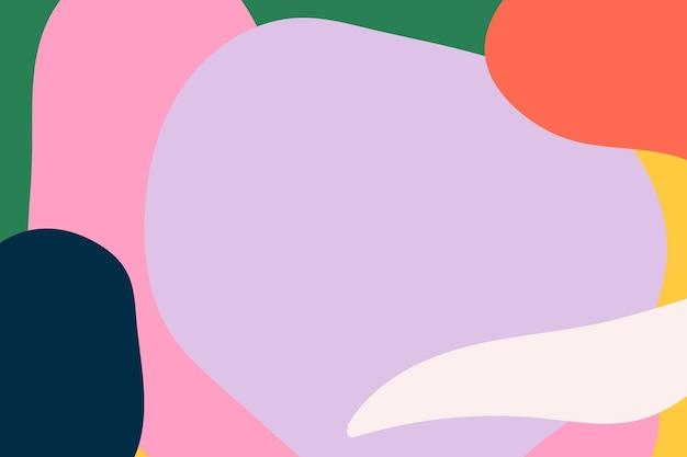 カラフルなメンフィスの抽象的なパターンの背景