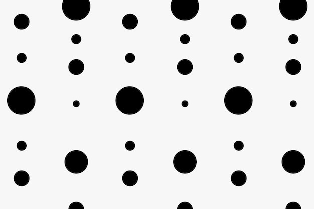Abstract pattern background, polka dot in black and white vector