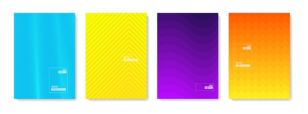 추상 패턴 배경입니다. 색상 추상 모양, 추상적 인 디자인 배경 세트. 로고, 배너, 게시물에 대한 추상 그라데이션 요소