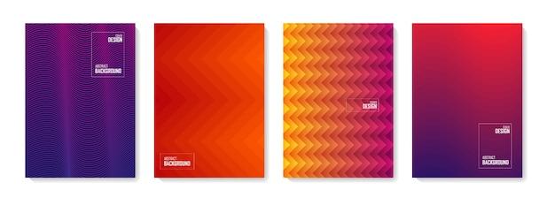 추상 패턴 배경입니다. 색상 추상 모양, 추상적 인 디자인 배경 세트. 추상 그라데이션 요소