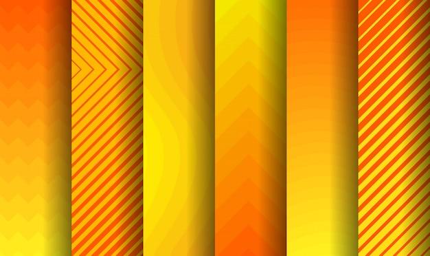抽象的なパターンの背景。色の抽象的な形、抽象的なデザインの背景のセットです。