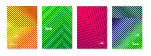 추상적 인 패턴 배경입니다. 색상 추상 모양, 추상적 인 디자인 배경 세트.