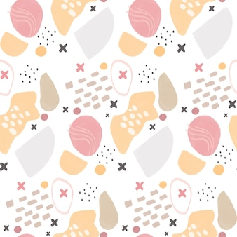 Abstract pattern background with hand drawn shapes design