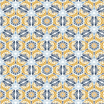 Abstract pattern background with a moroccan themed design