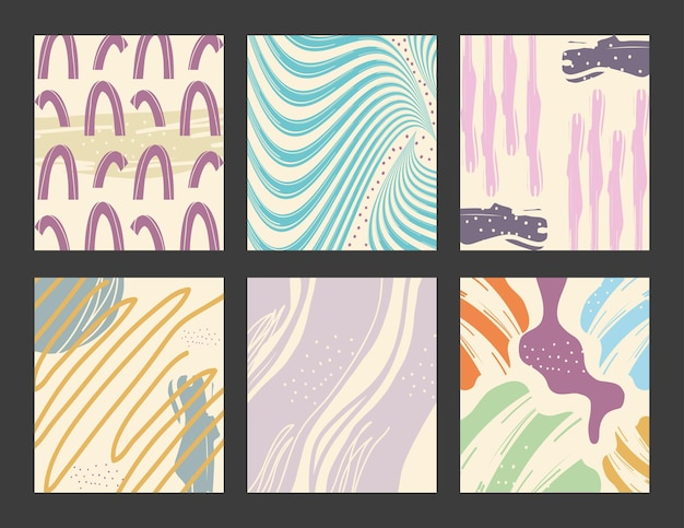 Abstract pattern backgrounds icon set design, art and wallpaper theme