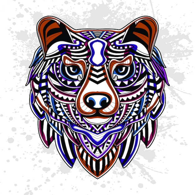 Abstract pattern of bear