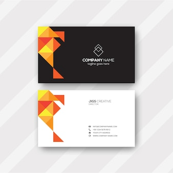 Abstract pattern business card