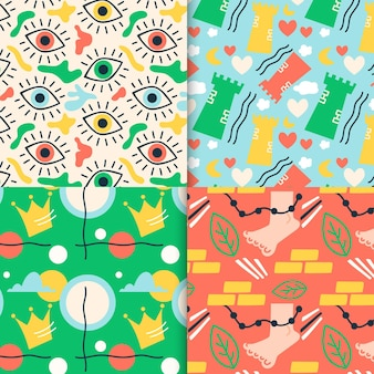 Abstract pattern collection design