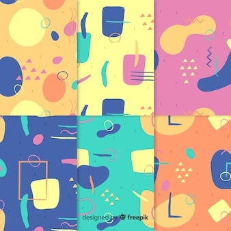 Abstract pattern collection draw concept