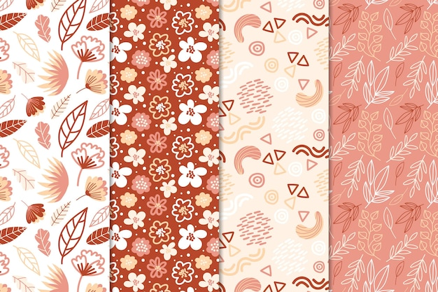 Abstract pattern collection draw design