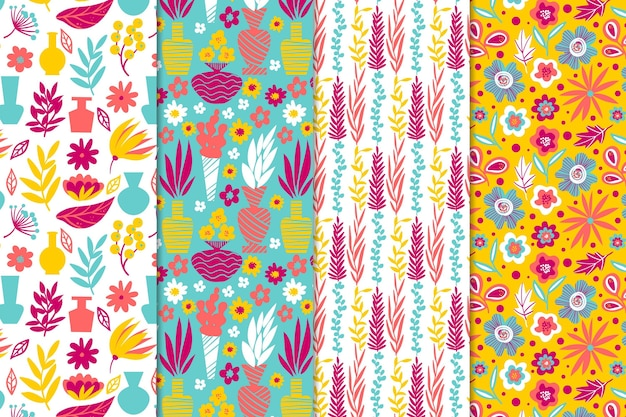 Abstract pattern collection draw style