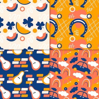 Abstract pattern collection draw