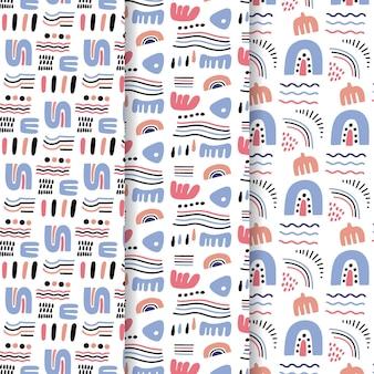 추상 패턴 컬렉션 그리기