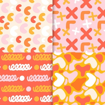 Abstract pattern collection drawing theme